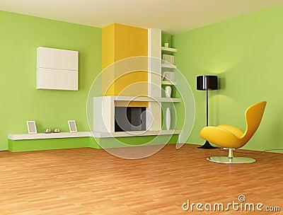 Grünes Wohnzimmer Lizenzfreies Stockfoto - Bild: 7999315