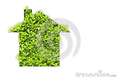 Grönt hus för eco
