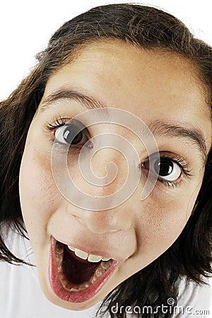 Große Augen, große Wekzeugspritze, großer Mund!