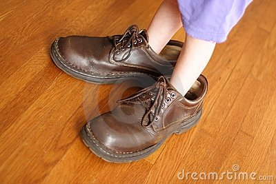 Große Schuhe zum zu füllen