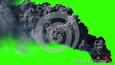 Großer schwarzer Rauch