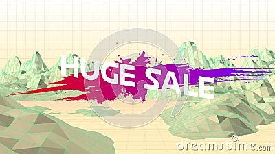 Großer Verkauf Grafik mit Bergen vektor abbildung