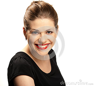 Großes toothy Lächeln.