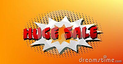 Großes Verkaufsbild auf Explosion 4k stock abbildung