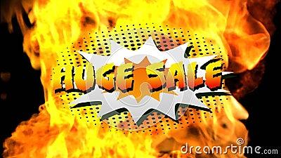 Großes Verkaufsgrafik über Explosionen lizenzfreie abbildung