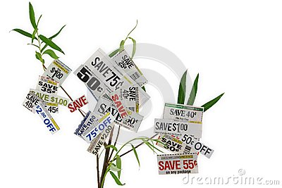 Grocery Coupons On A Tree
