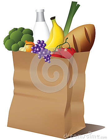 Free Grocery Paper Bag Royalty Free Stock Image - 25553916