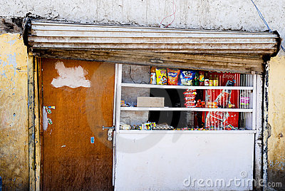 Grocery shop in Leh Editorial Photo