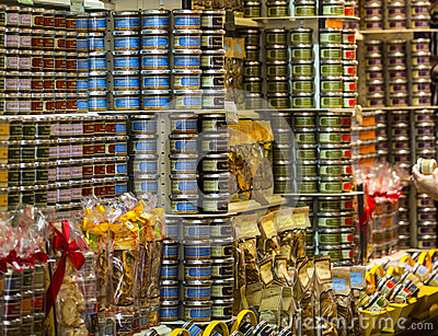 Grocery store in Uzes (France) Editorial Image