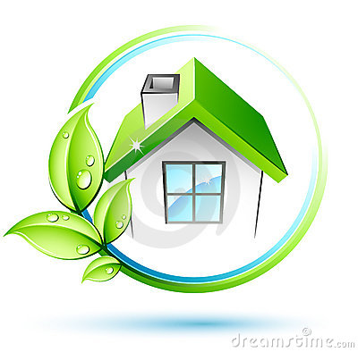 Groen bladeren en huis royalty vrije stock afbeeldingen afbeelding 15693019 - Groen huis model ...