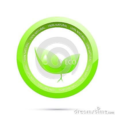 Groen etiket. Groene ecologie