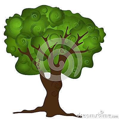 Groene abstracte boom stock afbeeldingen afbeelding 14073274 - Boom ontwerp ...