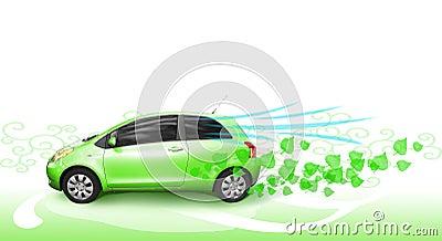 Groene auto