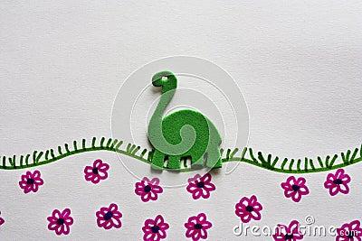 Groene dinosaurus