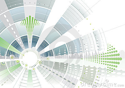 Groene futuristische pijl