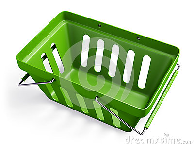 Groene lege winkelmand 2