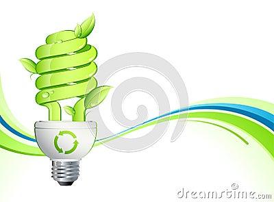 Groene lightbulb