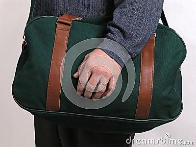 Groene reisbagage 4