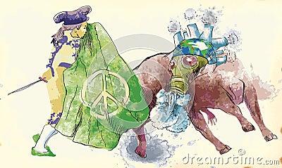Groene wereld - stieregevecht III