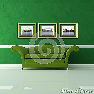Groene Woonkamer Royalty-vrije Stock Foto - Afbeelding: 12093335