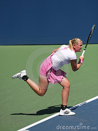 Groenefeld of Germany at the US Open Editorial Stock Image