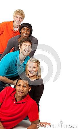 Groep multi-racial studenten