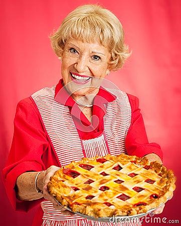 Großmutter-selbst gemachte Kirschtorte
