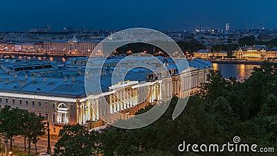 Grondwettelijk hof van Russische Federatie timelapse in St. Petersburg, Rusland stock footage