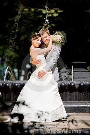 Groom and the bride joy