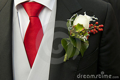 Groom and corsage