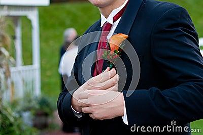 Groom corsage