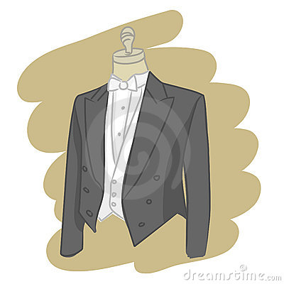 illustration of an elegant groom dress on mannequin vector eps file by