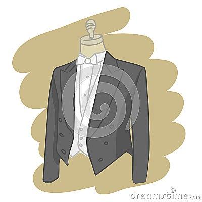 Groom dress vector
