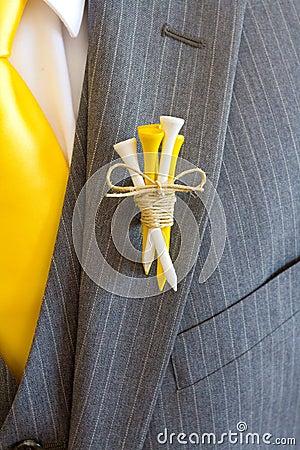 Free Groom Golf Tee Boutineer Royalty Free Stock Images - 36052919