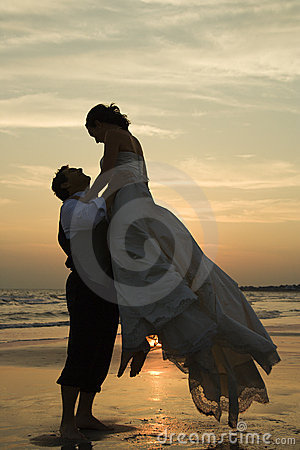 Free Groom Lifting Bride Stock Photo - 2051730