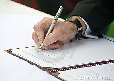 Groom Signing Wedding Regester 2