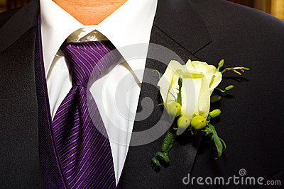 Groom Suit and Boutineer
