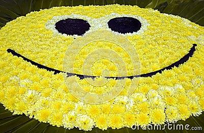 Groot geel glimlachgezicht