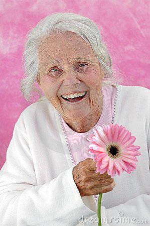 Groot lachen - grootmoeder