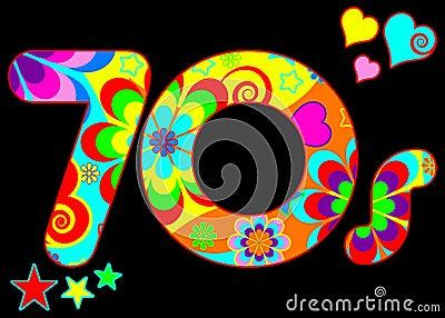 Groovy 70s disco design