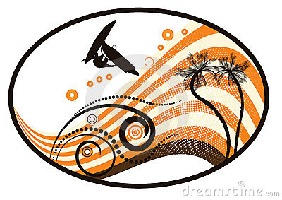 Groovy grunge vector tropical