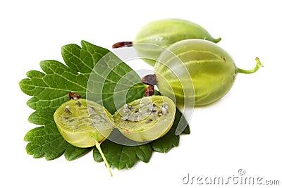 Grosellas espinosas verdes