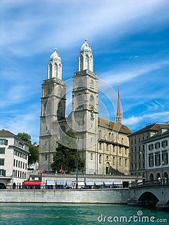 Free Grossmuenster Church In Zurich Stock Image - 6338601