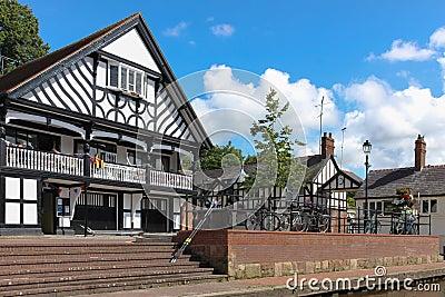 Grosvenor rowing club. Chester. England Editorial Photo