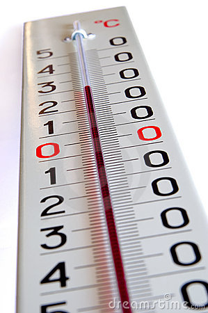 Grote buitenthermometer stock fotografie afbeelding 6103902 for Thermometres exterieurs