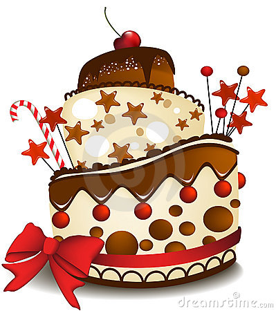 Grote chocoladecake