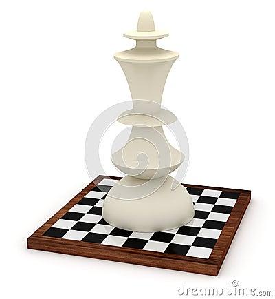 Grote koning op schaakbord