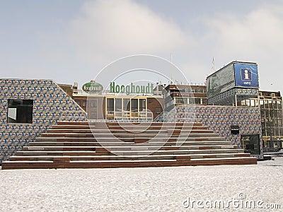 Grote Markt in Groningen in snow Editorial Image