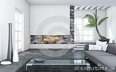 Grote Moderne Woonkamer Stock Afbeeldingen - Beeld: 28305574