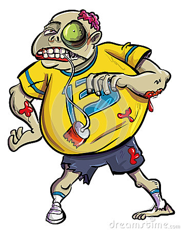 Groteske bloedige zombieventilator